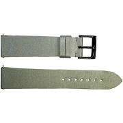 Tellus quick release gray satin watch band pin...