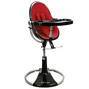 Chaise haute fresco chrome black/rock red bloom