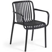 Isabellini - 4 chaises de jardin au design...