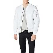 Urban classics basic bomber jacket homme, blanc...