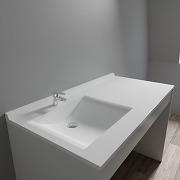 Plan vasque resiplan - 124 cm avec vasque...