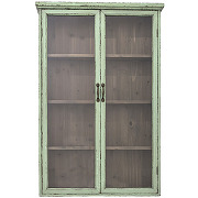 Hazem - vitrine 2 portes en bois 81x122cm