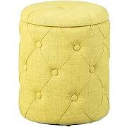 Pouf de rangement jaune-vert payak