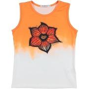 T-shirt custo barcelona fille. orange. 10...