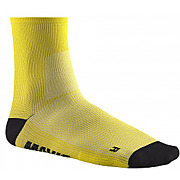 Chaussettes mi hautes mavic essential jaune 35 38