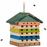 Relaxdays hôtel à insectes, abeilles sauvages &...