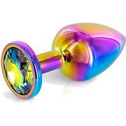 Plug anal bijou s aluminium rainbow