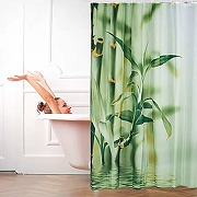Relaxdays rideau de douche motif bambou en...
