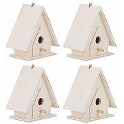 Cyrank maison d'oiseau 4 pièces, maison...